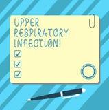 Słowo pisze tekstowi Górnej Oddechowej infekcji Biznesowy pojęcie dla illnesses powodować ostrym infekcji pustego miejsca kwadrat ilustracji