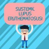 Słowo pisze tekstowi Systemowy lupus erythematosus Biznesowy pojęcie dla systemu odpornościowego ciało ataka zdrowy tkankowy mężc royalty ilustracja