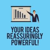 Słowo pisze tekstowi Twój pomysłach Reassuringly Potężnych Biznesowy pojęcie dla władzy tranquillity w twój myśl mężczyźnie wewną ilustracja wektor