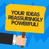 Słowo pisze tekstowi Twój pomysłach Reassuringly Potężnych Biznesowy pojęcie dla władzy tranquillity w twój myśli Hu analizie ilustracja wektor