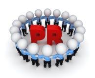 Słowa PR. Zdjęcie Stock