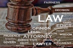 Słowo prawo Zdjęcie Royalty Free