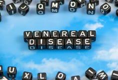 Słowo Przeciwweneryczna choroba zdjęcie royalty free