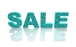 Słowo sprzedaż jest zrobi z błękitny formami z abstr Zdjęcie Royalty Free
