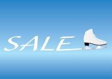 Słowo sprzedaż z lodową łyżwą Zdjęcie Royalty Free