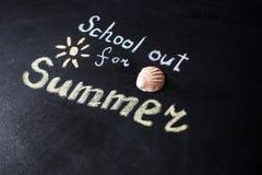 Słowo szkoła Out pisać na chalkboard Fotografia Stock
