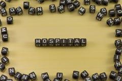 Słowo szpital zdjęcia royalty free