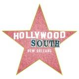 Słowo sztuki Hollywood południe Nowy Orlean royalty ilustracja