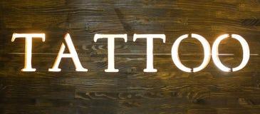 Słowo tatuaż Obrazy Royalty Free