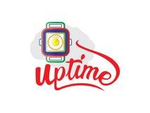 Słowo W górę czasu logo wektoru royalty ilustracja