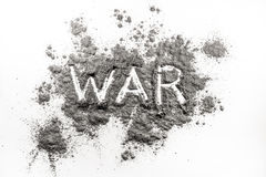 Słowo wojna pisać w popióle Obraz Royalty Free