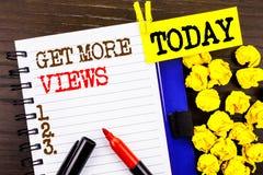Słowo, writing, tekst Dostaje Więcej widoki Biznesowy pojęcie dla Więcej ruchów drogowych prowadzeń Online strony popularności Pr Obraz Royalty Free
