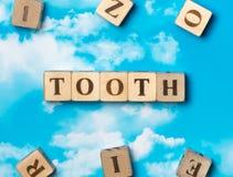 Słowo ząb zdjęcie royalty free