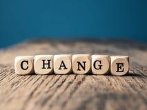 Słowo zmiana na małym dices obrazy stock