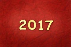 Słowo 2017 zrobił z blokowy drewnianym Obrazy Royalty Free