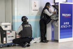 Służba Bezpieczeńśtwa robi usługa dla ATM fotografia stock