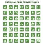 Służby Parku Narodowego znaki Zdjęcia Stock