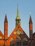 Służby socjalne & x22; Heiligen-Geist-Hospital& x22; w Luebeck, Niemcy Zdjęcie Stock