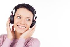 Słuchać jej ulubiona muzyka. Zdjęcia Stock