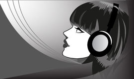 Słuchać muzyka ilustracji