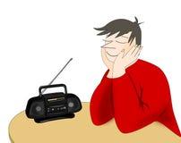 Słuchać radio ilustracja wektor