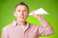 Słuchać z tubką Fotografia Stock