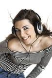 słuchał muzyki Fotografia Stock