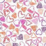 Słucha bezszwowego wzoru, miłości i valentine temat, Zdjęcie Royalty Free