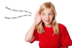słucha dzieciaków co Zdjęcie Stock