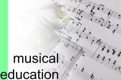 Słucha kurs notatek muzycznego tło Obraz Stock