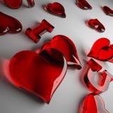 słucha miłości czerwień Obraz Royalty Free