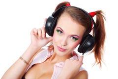 słucha muzykę Fotografia Stock