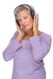 słucha muzykę Fotografia Royalty Free