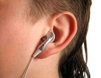 słuchacz muzyki zdjęcie royalty free