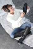 słuchająca muzyczna ulica Obraz Royalty Free