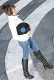 słuchająca muzyczna ulica Fotografia Stock