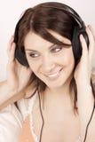 słuchająca muzyka Obraz Royalty Free