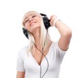 słuchająca muzyka Obrazy Stock