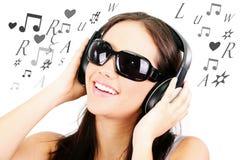 słuchająca muzyka zdjęcie stock