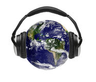 słuchający świat ilustracja wektor