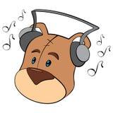 słuchający miś pluszowy Obrazy Royalty Free