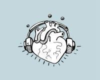 Słuchający serce ilustracja wektor