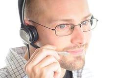 słuchawki życzliwy mężczyzna Fotografia Royalty Free