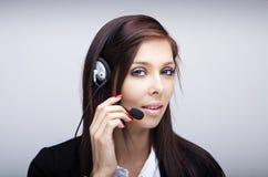 słuchawki biznesowa kobieta obrazy royalty free