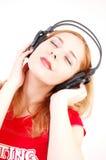 słuchawki dziewczęta zdjęcia stock