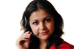słuchawki dziewczyna zdjęcie stock