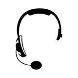 Słuchawki hełmofonów ikony wizerunek Obraz Royalty Free