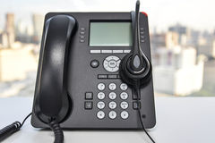 Słuchawki i IP telefon Obraz Royalty Free