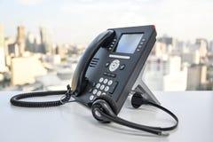 Słuchawki i IP telefon Zdjęcia Royalty Free
