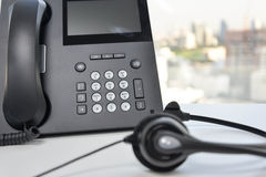 Słuchawki i IP telefon Obrazy Stock
